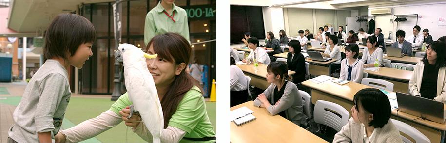 産休取得した女性社員の写真 社内研修の写真